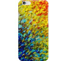 MAKING WAVES - Bold Rainbow Splash Ocean Waves Beach Nature Acrylic Painting iPhone Case/Skin
