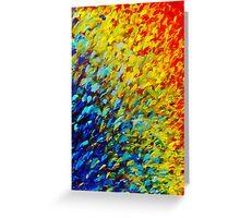 MAKING WAVES - Bold Rainbow Splash Ocean Waves Beach Nature Acrylic Painting Greeting Card
