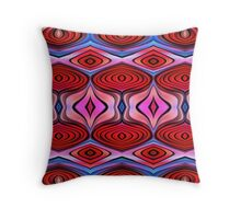 Abstract Beets on Beetroot Throw Pillow