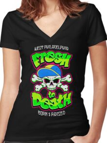 Fresh To Death Women's Fitted V-Neck T-Shirt