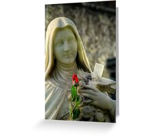 A Rose for the Virgin  Greeting Card