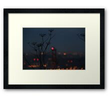 In the Shadow of the Lights Framed Print