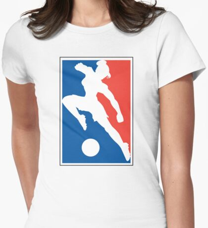 Women's Soccer Womens Fitted T-Shirt