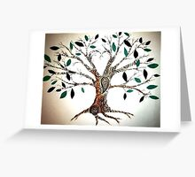 paisley tree Greeting Card