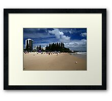 Spectators At The Quiksilver Pro Framed Print