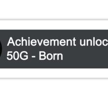 Xbox Achievement - Born Sticker