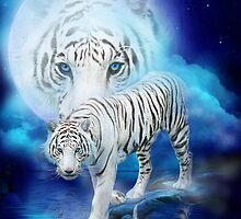 White Tiger Moon by Carol  Cavalaris
