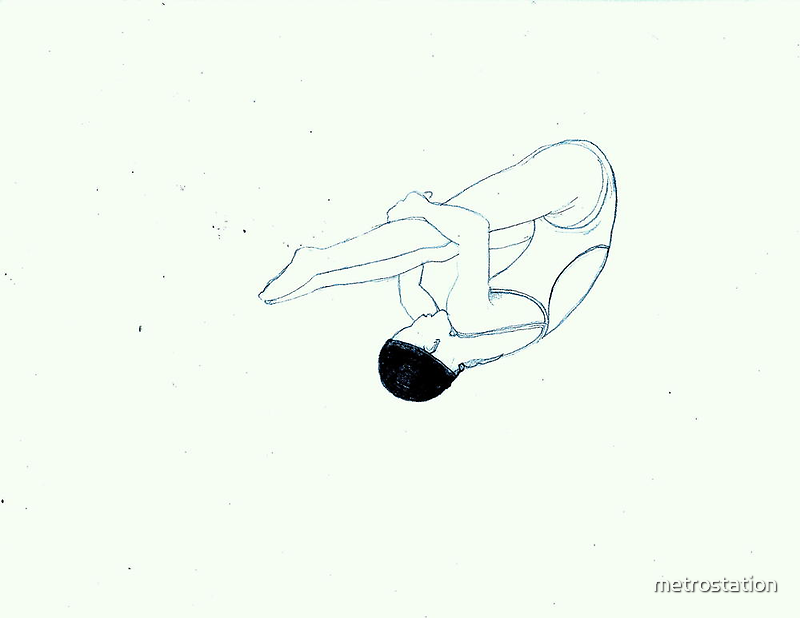 The Diver by metrostation