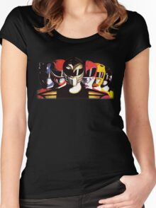 Mighty Morphin Power Rangers Women's Fitted Scoop T-Shirt