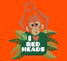 I heart (love) redheads  Kids Clothes