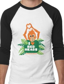I heart (love) redheads  Men's Baseball ¾ T-Shirt