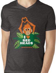 I heart (love) redheads  Mens V-Neck T-Shirt