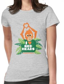 I heart (love) redheads  Womens Fitted T-Shirt