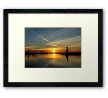 Biloxi Sunset Framed Print