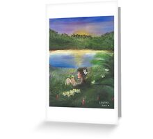Spring Twighlight Greeting Card