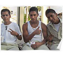 Tres amigos- Ahuachapan, El Salvador Poster
