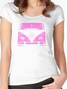 VW Kombi Pink design Women's Fitted Scoop T-Shirt