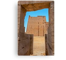 Temple of Horus. Canvas Print