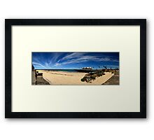 Busselton Wharf Panorama Framed Print