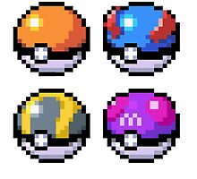 Pokeball Pixel Art  by N1N10D0PE
