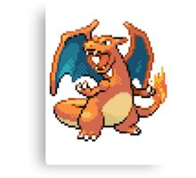 Pixel Charizard Canvas Print