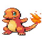 Pixel Charmander by N1N10D0PE