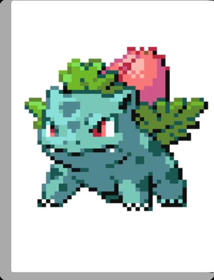 Pixel Ivysaur by N1N10D0PE