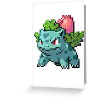 Pixel Ivysaur Greeting Card