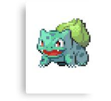 Pixel Bulbasaur Metal Print