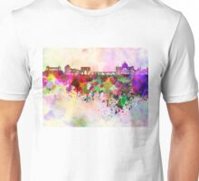 Rome skyline in watercolor background Unisex T-Shirt
