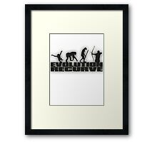 EVOLUTION RECURVE Framed Print