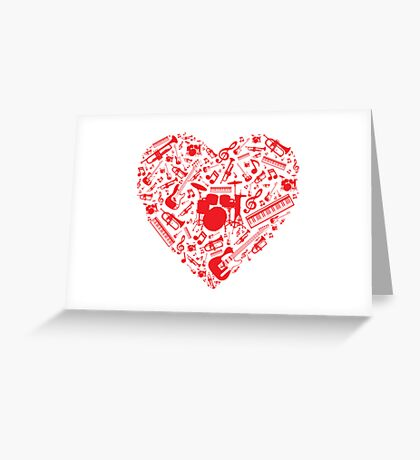 Music Love Greeting Card