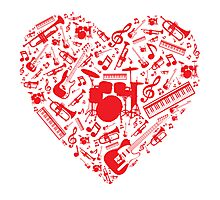 Music Love Photographic Print