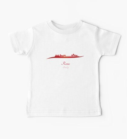 Rome skyline in red Baby Tee