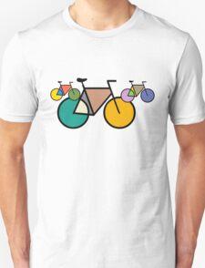 Geometric Mondrian Bicycles T-Shirt Unisex T-Shirt