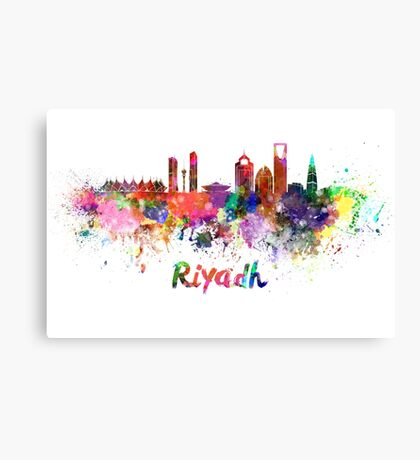 Riyadh skyline in watercolor Canvas Print