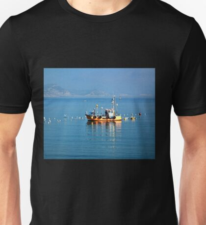 Slippery Dick Fishing Boat At Lyme Unisex T-Shirt
