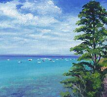 Portsea Pine Tree on Port Phillip by Dai Wynn