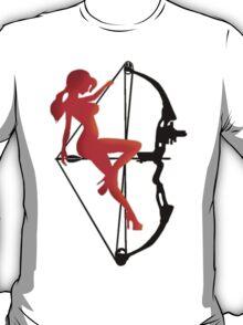 ARCHERY-SEXY COMPOUND GIRL ON ARROW T-Shirt