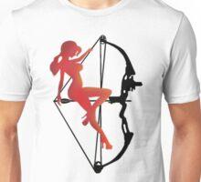 ARCHERY-SEXY COMPOUND GIRL ON ARROW Unisex T-Shirt