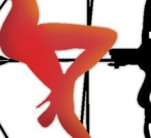 ARCHERY-SEXY COMPOUND GIRL ON ARROW Sticker