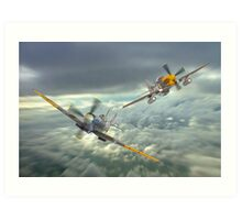 The Old Flying Machine Company - MH434 And Ferocious Frankie Art Print