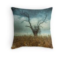 Old tree on Bury Road,Bury St Edmunds - HDR Throw Pillow