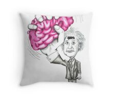 Brain Wave Throw Pillow