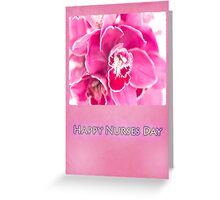 Happy Nurses Day With Tiger Orchids Greeting Card