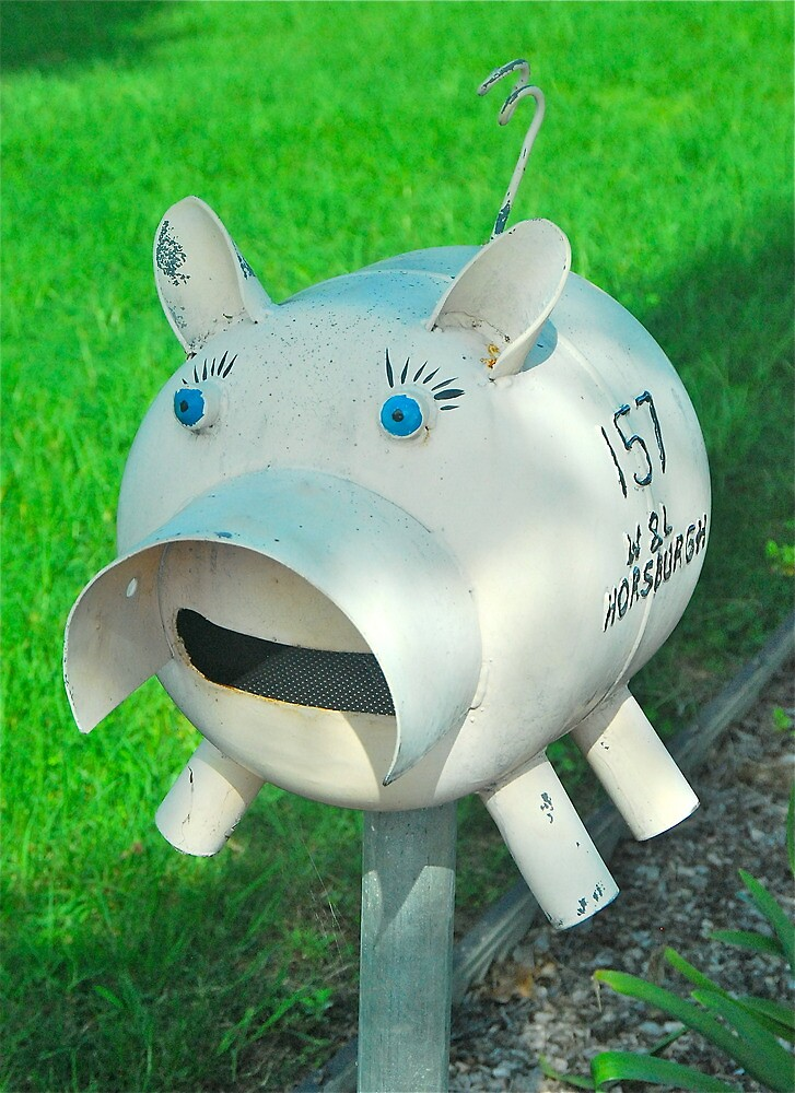 Metal Piggy Box by Penny Smith