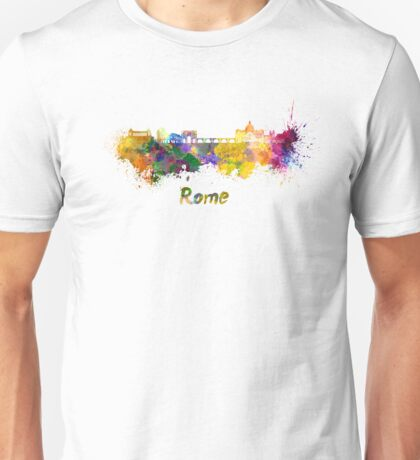 Rome skyline in watercolor Unisex T-Shirt