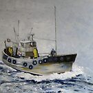 Trawler, North Sea by Sue Nichol