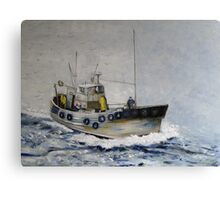 Trawler, North Sea Canvas Print