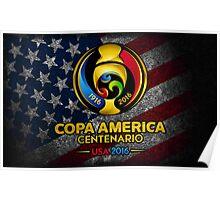 Conmebol Fifa Copa America Centenario, Usa 2016 Flag Poster
